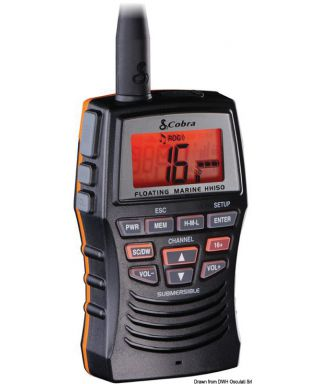 COBRA MARINE MR HH150FLTE VHF portable