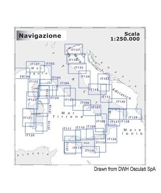 Carte Navimap IT122-IT123 De Alghero à Punta Sardegna avec P.to Vecchio et Ajaccio
