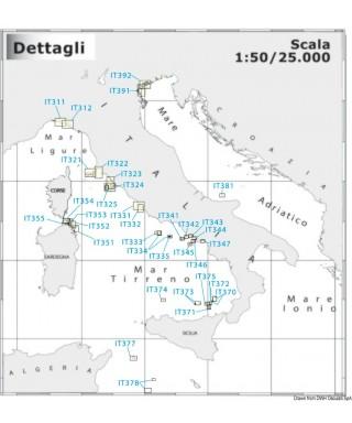 Carte Navimap IT370-IT372 De Stromboli à Basiluzzo avec I.Panarea