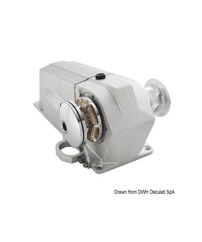 Treuil Italwinch Devon 1500W 12V barbotin 8mm traction maxi 540kg