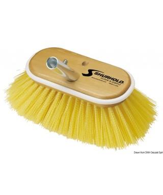 Brosse 6 pouces fibres moyennes jaunes
