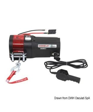 Treuil électrique traction maxi 1588 Kg 900W 12V
