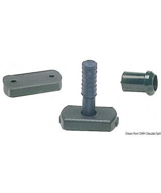 Base d'adaption pour tubes 25/32 mm de barre franche
