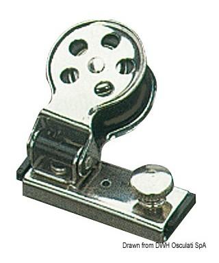Filoir inox 14 mm et poulies en nylon