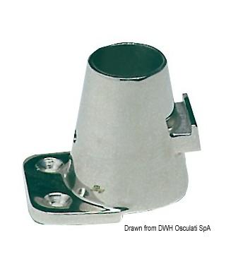 Platine fargue droite 90° 55x73mm 65mm pour chandeliers 25mm