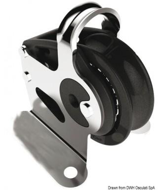 Renvoi vertical Control poulie diamètre 40mm pour bouts 10mm noire