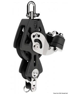 Réa avec ringot et coinceur Synchro 72mm pour bouts 10-12mm charge maxi 1100Kg