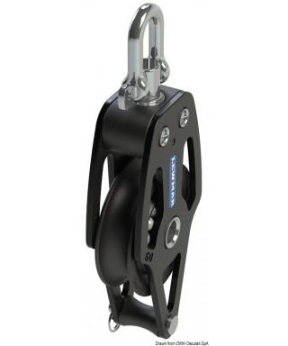 HTX 90 poulie simple avec ringot poulie 90mm bouts maxi 16mm