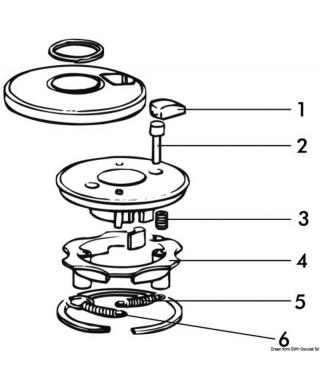 Goupille de montage à l'intérieur du ressort de maintient