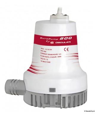 Pompe de cale immergée Europump II 1000 12V Débit 64 L/m