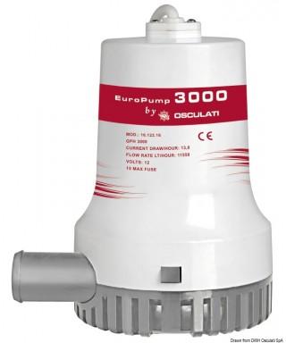 Pompe de cale immergée Europump II 3000 24V Débit 192 L/m