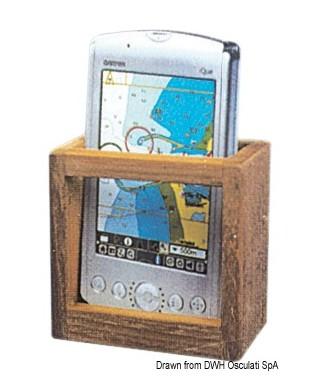 Porte GPS en teck 78x77x36 mm