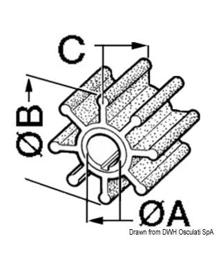 Turbine pompe refroidissement eau Réf. d'origine 4598-0003