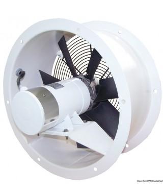 Ventilateur hélicoïdal 24V 150W 6A flux FP Débit 56 m3/min