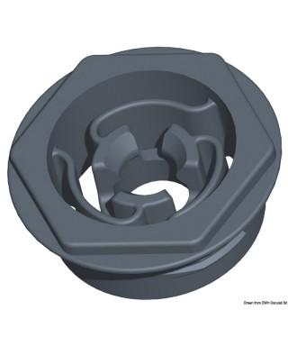Clip auto-alignant avec trou diamètre 25 mm et saillie tête 2,5 mm