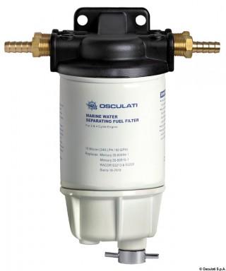 Filtre séparateur eau/carburant 30 Micron 324L/h collecteur aluminium