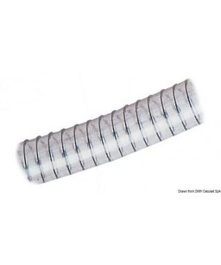 Tuyau avec spirale 45 x 58 mm EnPVC transparent