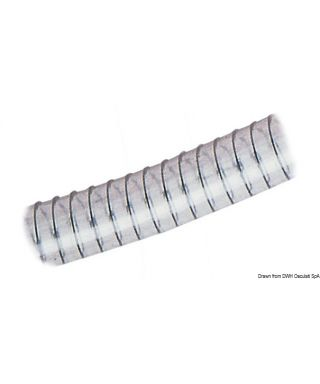 Tuyau avec spirale 60 x 75 mm En PVC transparent