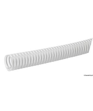 Tuyau avec spirale en PVC blanc 32 mm