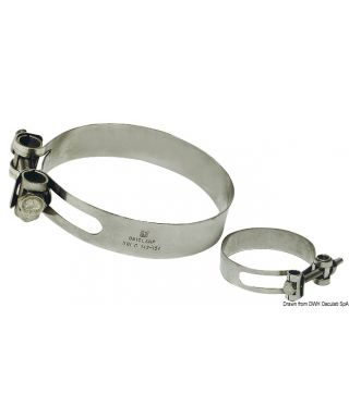 Collier de serrage Heavy Duty Inox 316 154/166 mm