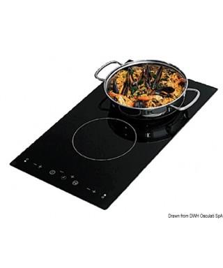 Plan de cuisson vitrocéramique à induction 1300W + 2200W