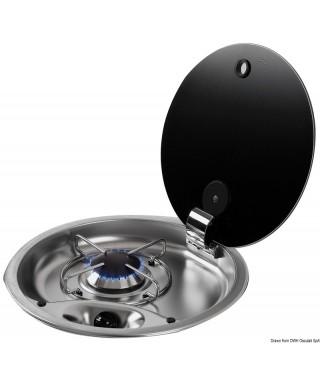 Plan cuisson inox 1 feu couvercle fumé 340 mm