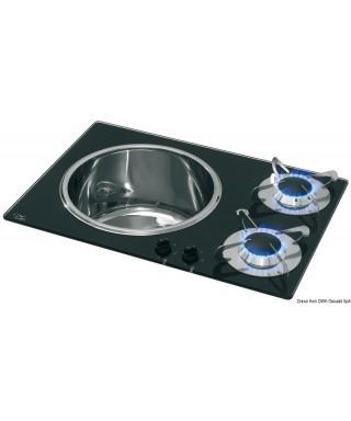 Plaque de cuisson avec lavabo
