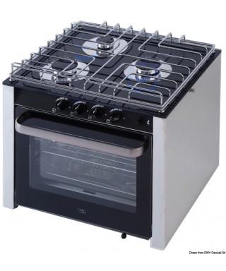 Cuisinière à gaz avec four cardan 3 feux
