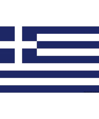 Pavillon Grèce 20 x 30 cm en tissu de polyester teintes indélébiles