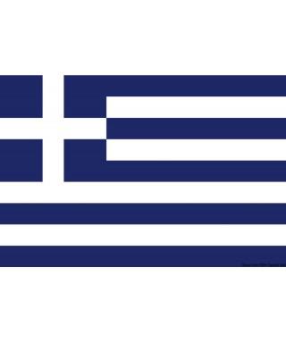 Pavillon Grèce 30 x 45 cm en tissu de polyester teintes indélébiles