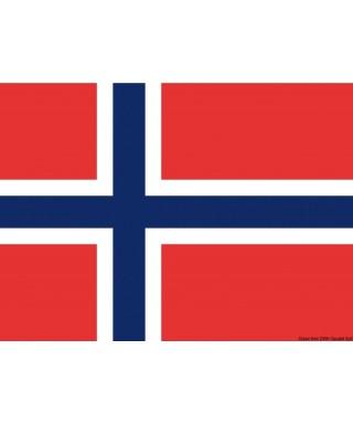 Pavillon Norvège 30 x 45 cm en tissu de polyester teintes indélébiles
