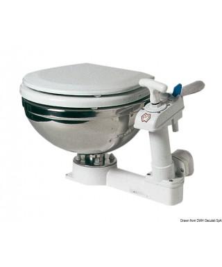 WC manuel compact inox poli miroir