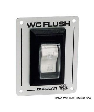 Interrupteur WC FLUSH 12/24V pour WC électriques de 15A