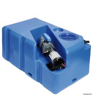 Réservoir eaux usées avec broyer horizontal 60 L 24V