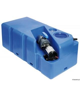 Réservoir eaux usées avec broyer horizontal 80 L 24V