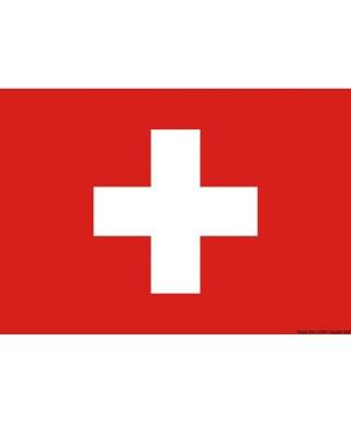 Pavillon Suisse 70 x 100 cm en tissu de polyester teintes indélébiles