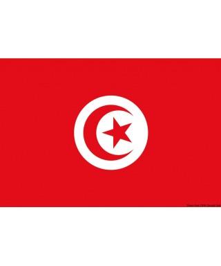 Pavillon Tunisie 30 x 45 cm en tissu de polyester teintes indélébiles