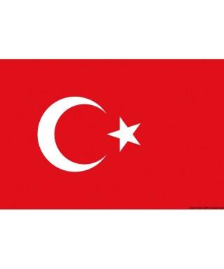 Pavillon Turquie 50 x 75 cm en tissu de polyester teintes indélébiles