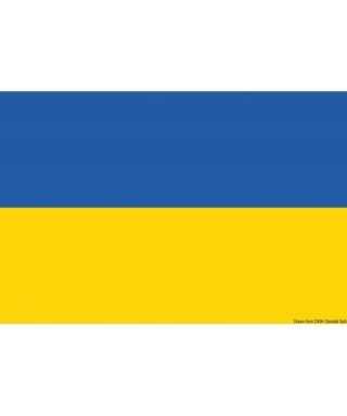 Pavillon Ukraine 30 x 45 cm en tissu de polyester teintes indélébiles