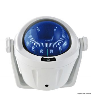 Compas compacte IDRA rose bleue frontale avec étrier Boîtier Blanc