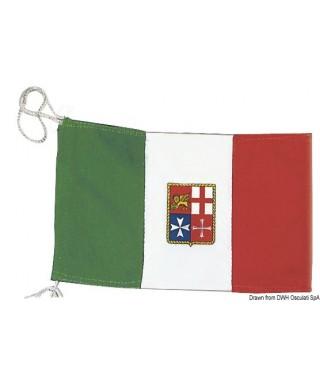 Pavillon Italien Marine Marchande 80 x 120 cm en polyester épais