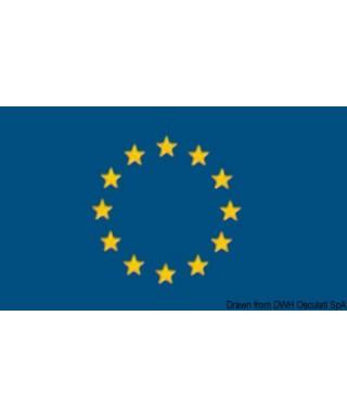 Pavillon Europe 20 x 30 cm en tissu de polyester teintes indélébiles
