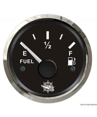 Jauge de carburant 10/180 Ohm Cadran noir lunette polie 51mm