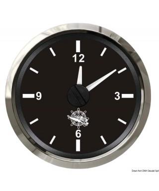 Horloge au quartz Cadran noir lunette polie 51mm