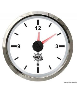 Horloge au quartz Cadran blanc lunette polie 51mm