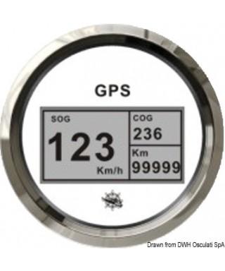 Indicateur vitesse compas totalisateur GPS Cadran blanc lunette polie 85mm