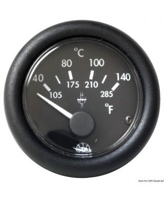 Indicateur température Guardian huile 40-150° 24V Cadran noir frette noire