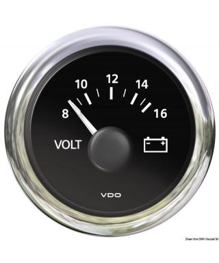 Voltmètre 18/32V noir 24V diamètre 52mm