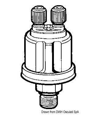 Bulbe pression huile double VDO 10 bar 1/8-27 NPT pôles isolés