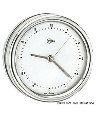 Horloge au quartz Barigo Orion inox poli cadran argenté 85mm